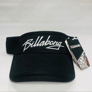 BILLABONG black adjustable visor hat men's NWT